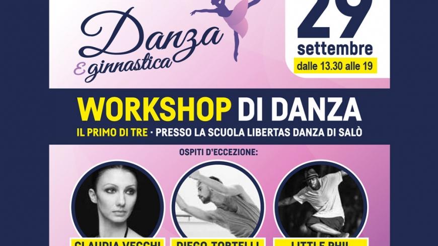 WORKSHOP DI DANZA Classica, Contemporanea e Hip Hop con Claudia Vecchi, Diego Tortelli e Little Phil
